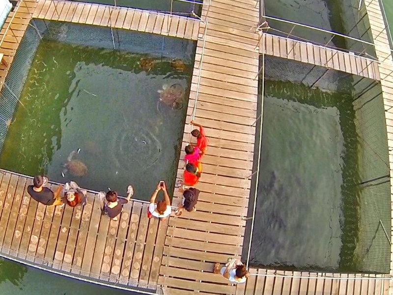 Chaolao Cabana Resort หน่วยสาธิต การเลี้ยงสัตว์น้ำ ภายในอ่าวคุ้งกระเบน